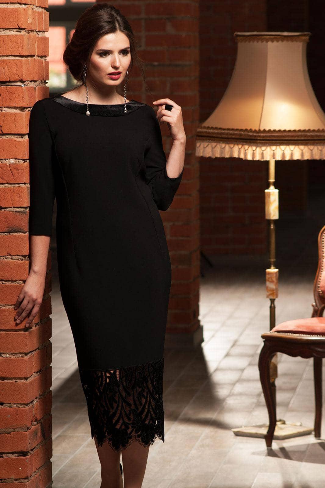Платье Faufilure 456С черный - фото 1