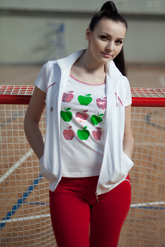 Спортивный костюм For Rest 5351 белый/малина - фото 4