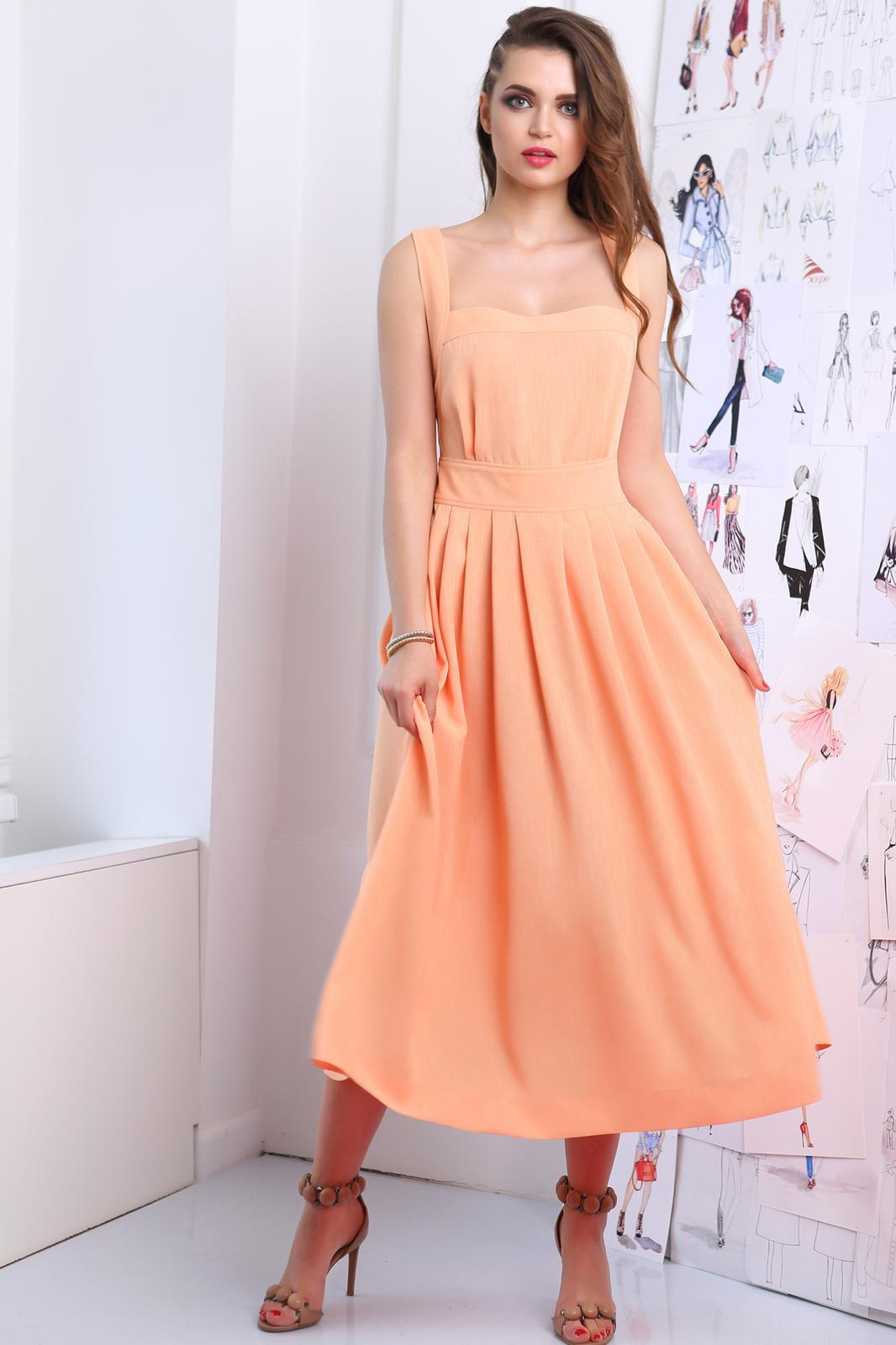 Платье ЮРС 17-698о оранжевый - фото 1