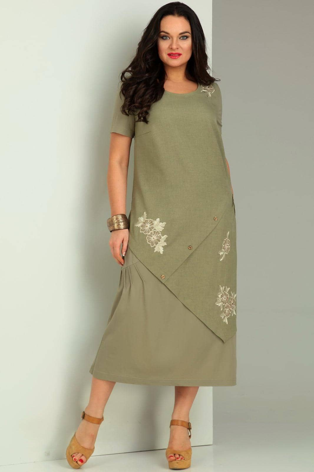 Платье Jurimex 1734 Хаки - фото 1