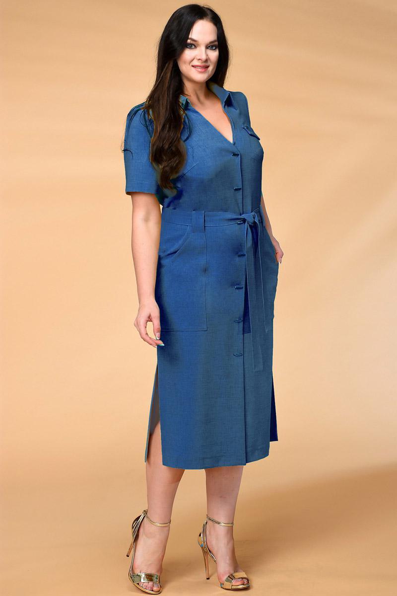 Платье Кокетка и К 521-2 синие тона - фото 1