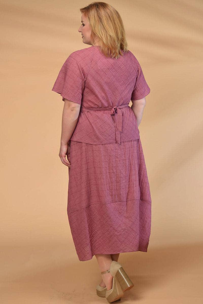 Костюм Кокетка и К 523 розовые тона - фото 3