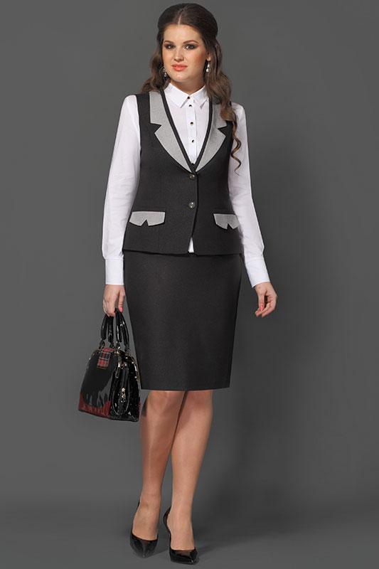 Костюм женский жилет и юбка доставка