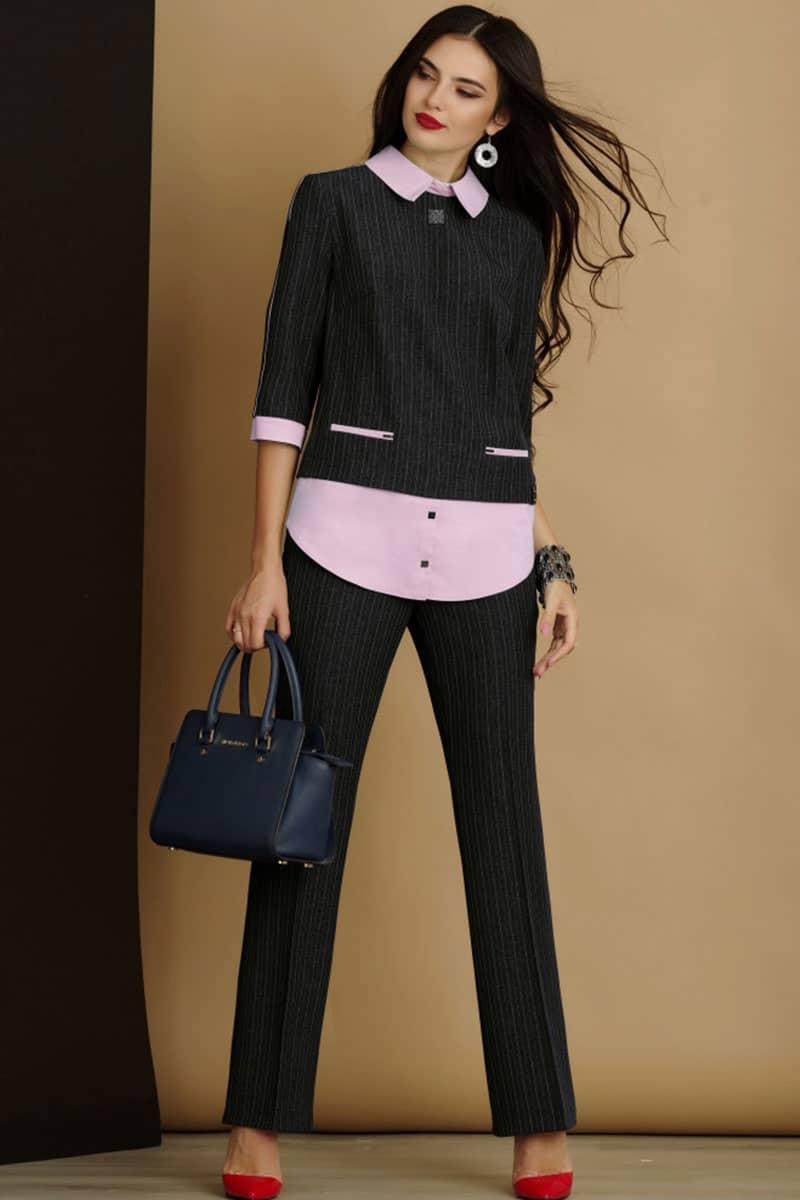 Комплект Lissana 2915-1 темно-серый с розовым - фото 1