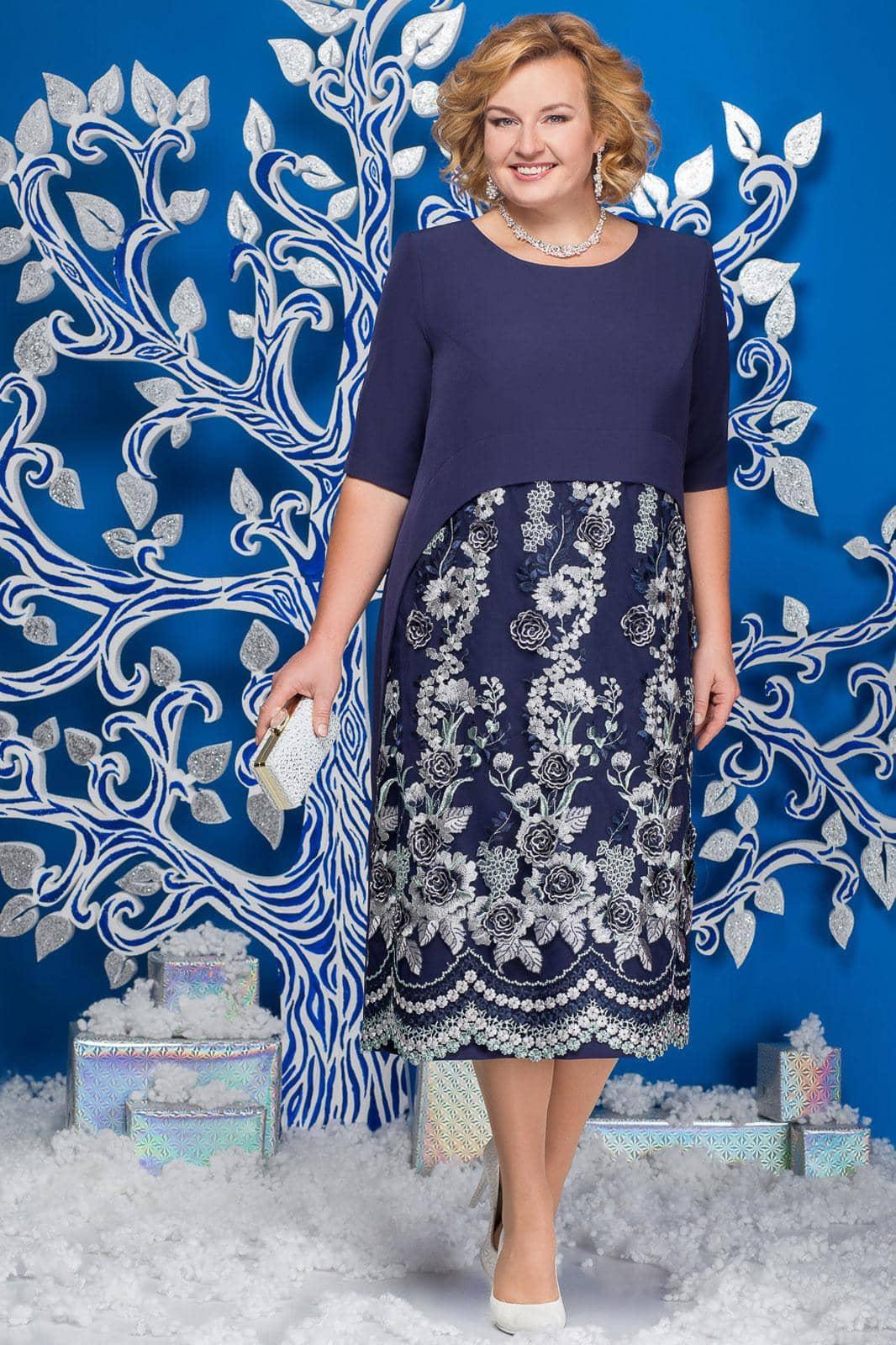 Платье Ninele 5565-2 темно-синий - фото 1