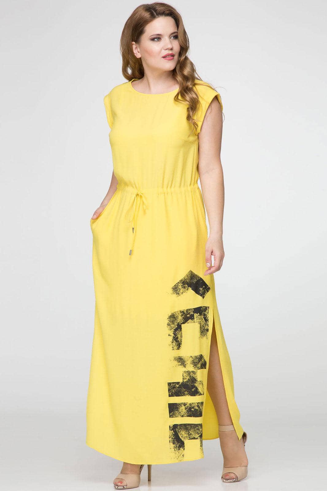 Платье Panda 380080 желтый - фото 1