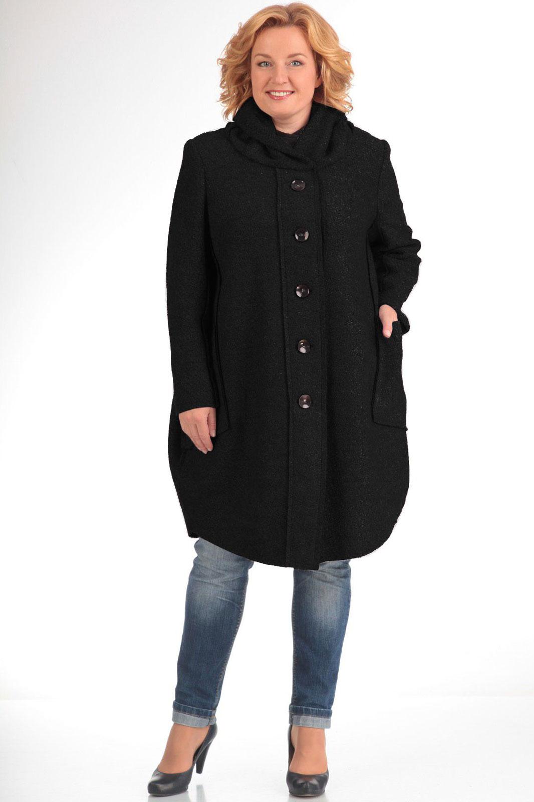 Пальто Pretty 485-2 черный - фото 1