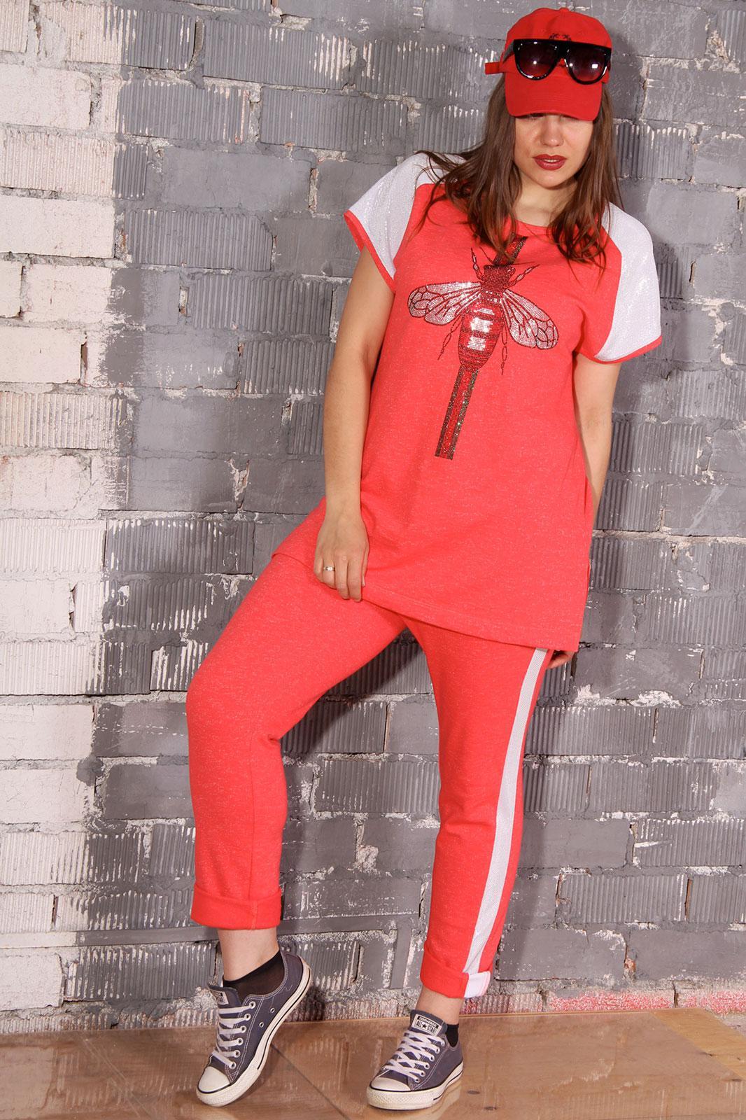 Спортивный костюм Runella 1340-1 коралл - фото 1