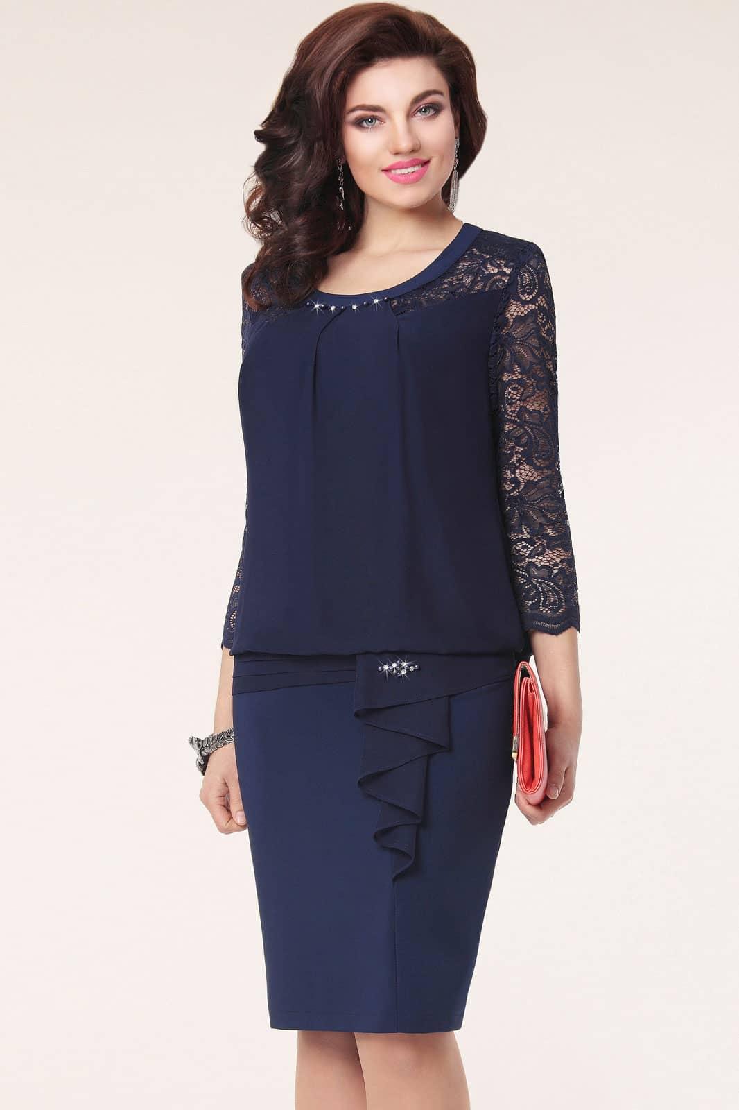 Платье Vittoria Queen 1093/1 Темно-синий - фото 1