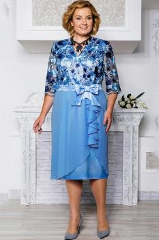 Платье Aira Style 514-1 голубые тона