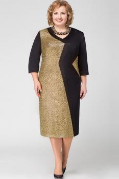 Платье Aira Style 527-1 Черный/Золотой