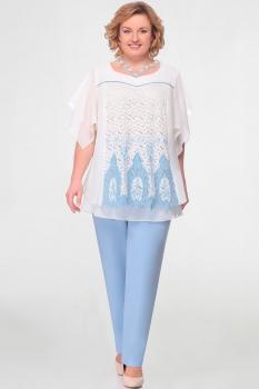 Комплект Aira Style 541 молоко+голубой