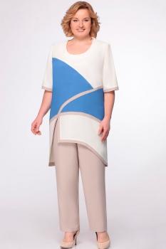 Комплект Aira Style 547 синий+молоко