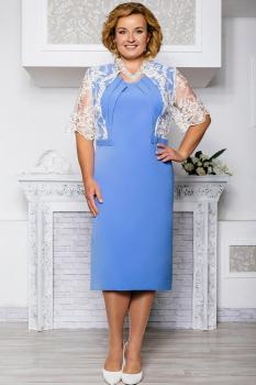 Платье Aira Style 558 голубые тона