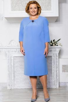 Платье Aira Style 563 голубые тона