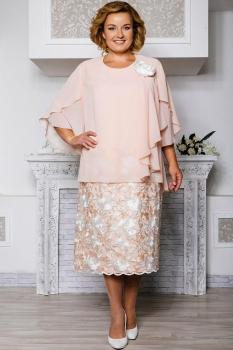 Платье Aira Style 566 нежно-персиковый