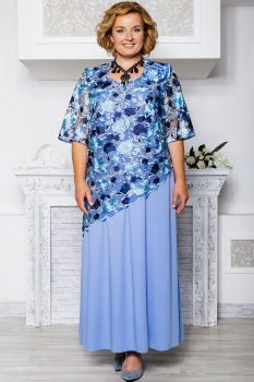 Платье Aira Style 568 сине-голубой