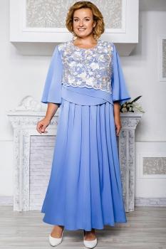 Платье Aira Style 569 голубые тона
