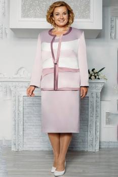 Костюм Aira Style 570 розовый+молочный