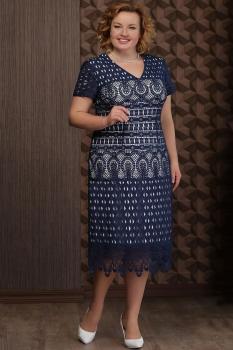 Платье Aira Style 616 тёмно-синий