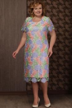 Платье Aira Style 623 разноцветный