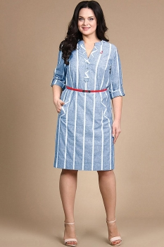 Платье Alani 716-1 голубой