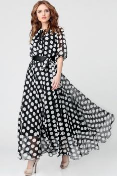 Платье Anastasia 062-2 черно-белый