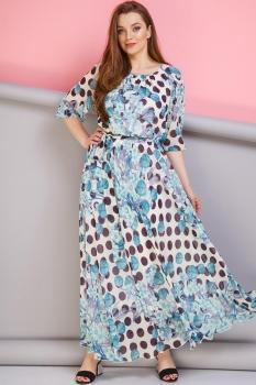 Платье Anastasia 062-3 бирюза