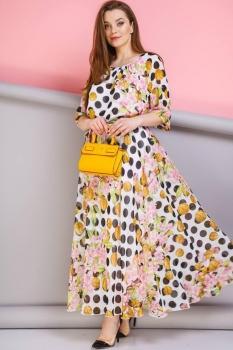 Платье Anastasia 062-4 розовый с чёрным