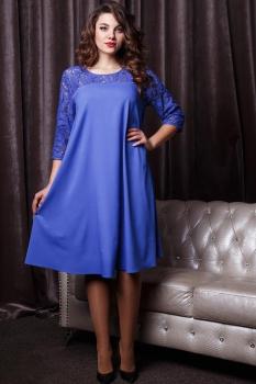 Платье Anastasia 166 василёк