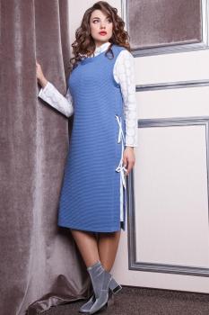 Костюм Anastasia 168 голубой с белым