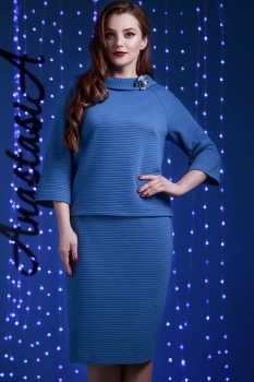 Костюм Anastasia 169-1 серо-синий