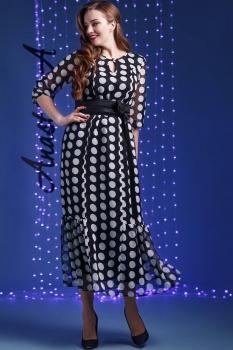 Платье Anastasia 170 черно-белый