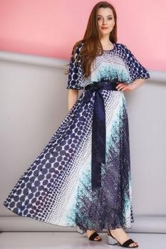 Платье Anastasia 263 тёмно-синий, бирюза