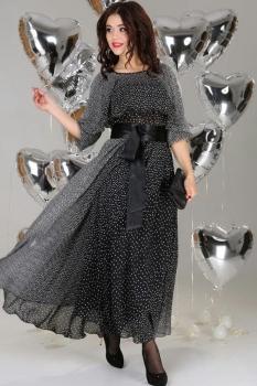 Платье Anastasia 63-3 чёрный с белым