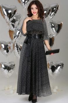 Платье Anastasia 63а чёрно-белый