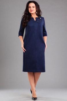 Платье Andrea Style 0012 синий