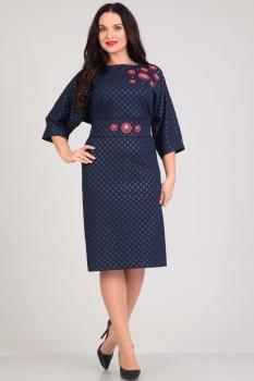Платье Andrea Style 0014-1 синий