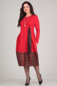 Платье Andrea Style 0031-2 красный