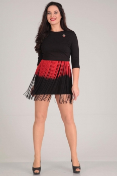 Платье Andrea Style 0034 черный
