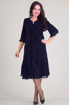 Платье Andrea Style 0036 синий