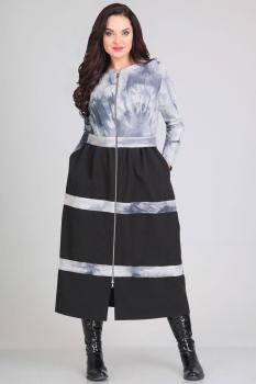 Платье Andrea Style 0037 серый
