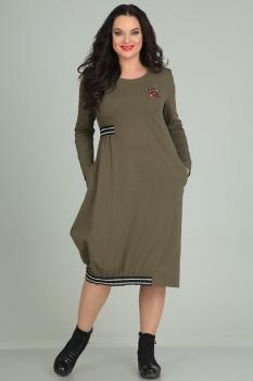 Платье Andrea Style 0044-2 хаки