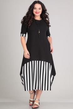 Платье Andrea Style 0051-2 белые-полосы