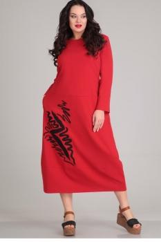 Платье Andrea Style 0053-1 красный