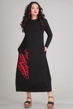 Платье Andrea Style 0053-2 черный
