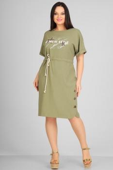 Платье Andrea Style 0058 олива