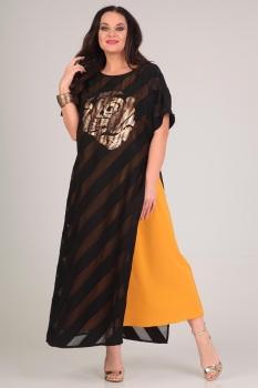 Платье Andrea Style 0063 желтый