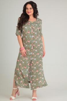 Платье Andrea Style 0066 хаки