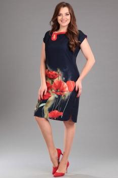 Платье Andrea Style 006 синий